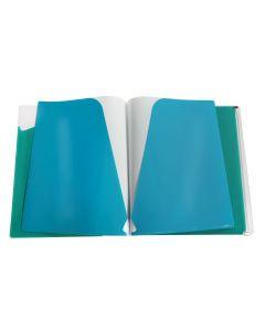 Five pocket poly folder with zip envelope