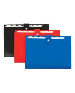 7 Pocket Open Top Expanding File, Snap Assorted