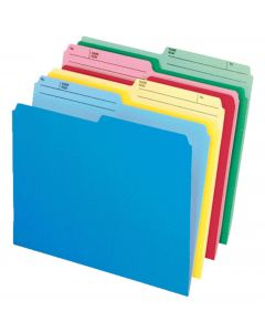 CutLess® File Folders, Letter, Assorted