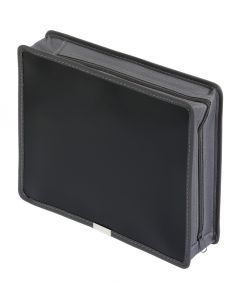 "3"" Poly Zip Wallet, Black, Letter"