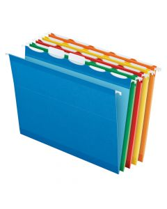Pendaflex® Ready-Tab™ Reinforced Hanging Folders, Letter Size, Assorted Colors, 5 Tab, 25/BX