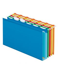 Pendaflex® Ready-Tab™ Extra Capacity Reinforced Hanging Folders, Legal Size, Assorted Colors, 6 Tab, 20/BX