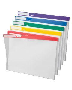 Poly Index Folder, Letter, Assorted