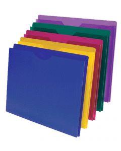 Poly File Jacket, Letter, Assorted