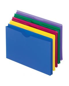 Pendaflex® Translucent Poly File Jackets, Legal Size, Assorted Colors, 5/Pack