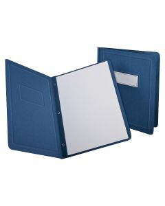 Oxford® Panel & Border Front Report Cover, Letter Size, Blue