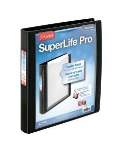 """SuperLife™ Pro Easy Open® ClearVue™ Locking Slant-D® Ring Binder, 1"""" Black"""