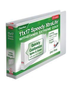 "11"" x 17"", Speedy XtraLife® Non-Stick Locking Slant-D® Ring Binder, 2"" White"