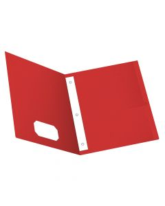Oxford® Twin Pocket Folder with Fasteners, Red