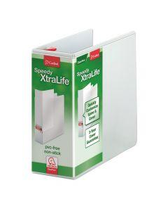 "Speedy XtraLife® Non-Stick Locking Slant-D® Ring Binder, 5"" White"