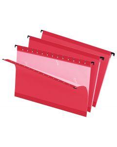 SureHook® Reinforced Hanging File Folder, Legal, Red