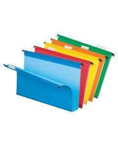 SureHook®  Reinforced Extra-Capacity Hanging Folder, Legal, Assorted