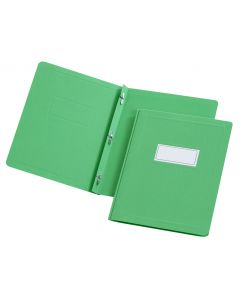 Oxford® Panel & Border Front Report Cover - Retail, Letter, Green