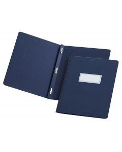 Oxford® Panel & Border Front Report Cover - Retail, Letter, Dark Blue