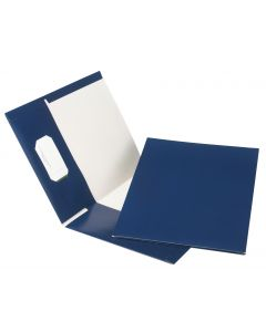 Earthwise™ by Oxford® 100% Recycled Hi Gloss Twin Pocket Folder 5 Packs, Letter, Navy