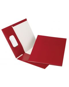 Earthwise™ by Oxford® 100% Recycled Hi Gloss Twin Pocket Folder 5 Packs, Letter, Burgundy