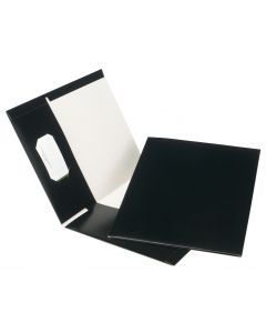 Earthwise™ by Oxford® 100% Recycled Hi Gloss Twin Pocket Folder 5 Packs, Letter, Black