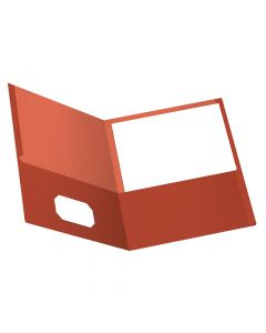 Earthwise® by Oxford® 100% Recycled Twin Pocket Folders, Letter Size, Red