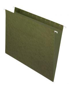 Pendaflex® Recycled Hanging File Folders, Letter Size, Standard Green
