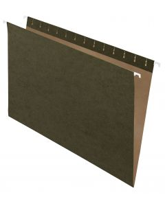 Pendaflex® Recycled Hanging File Folders, Legal Size, Standard Green