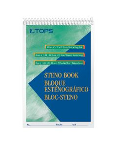 """TOPS™ Steno Books, 6"""" x 9"""", Gregg Rule, 70 Sheets, 12 Pack"""