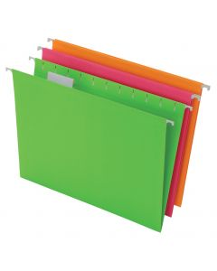 Pendaflex® Glow Hanging File Folders, Letter Size, Assorted, 12 Pack