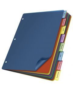 Poly Divider (w/o Pockets), 8 Tab, Multicolor