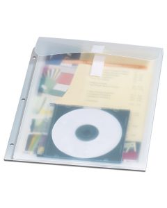 Oxford® Stash-It Binder Pocket™, Letter-Size, Clear, 1/EA