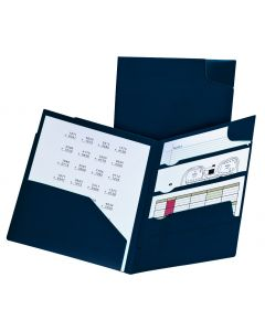 Oxford Divide-It-Up™ 4-Pocket Poly Folder, Letter, Navy, 5PK