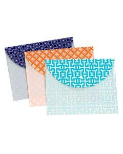 Snap Envelope, Letter Size, Assorted