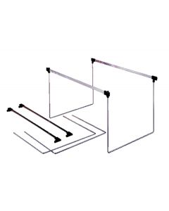 Hanging Folder Frame, Twin Packs, Letter, Silver