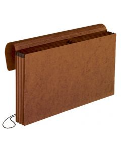 """Expanding Partition Wallet - 4 Pockets, 3-1/2"""" Exp, Legal, Red"""