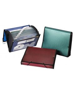 Geo Poly Expanding File, 7 Pocket, Letter, Asstorted, Trilingual