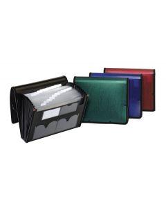 21 Pocket Expanding File, Red, Blue, Green, Or Black