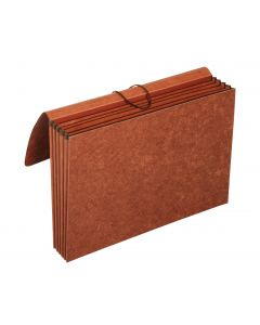 "Pendaflex® Partition Wallets, 3.5"" Expansion, 4 Pockets, Legal, Brown"