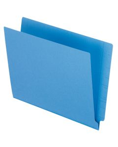 Color End Tab Folders, Blue