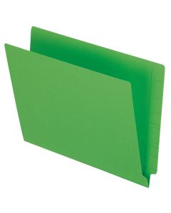 Color End Tab Folders, Green