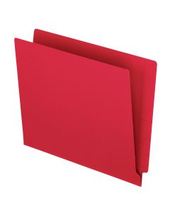 Color End Tab Folders, Red