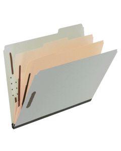 Pressboard Classification Folder, Letter, Green