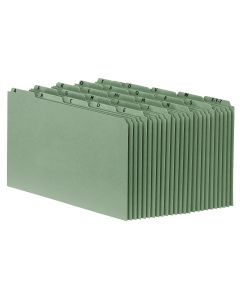 Heavyweight Alphabetic File Guides, Legal, Green