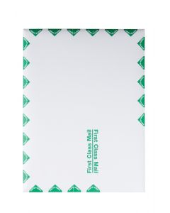 9 x 12 Catalog Envelopes with First Class Mail Border with Self Seal Closure, Great Option for Mailing, Storage and Organizing, 28 lb. White Wove, 100 per Box