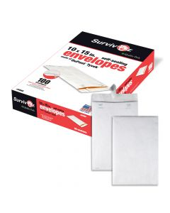Survivor® 10 x 15 Catalog Mailer with Self Sealing Closure, Made with DuPont™ Tyvek® Material, 14 lb. Puncture, Tear and Moisture Resistant, 100 per Box