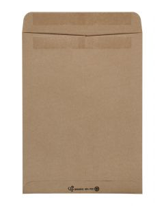 Quality Park 9 x 12 100% Recycled/40% PC Catalog Envelopes with Self Seal Closure, Great for Mailing, Storage and Organizing, 24 lb. Brown Kraft, 100 per Box