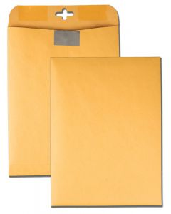 9 x 12 Postage Saving ClearClasp Envelopes, with Reusable Redi-Tac Closure for Repeated Use, 28 lb. Brown Kraft, 100 per Box