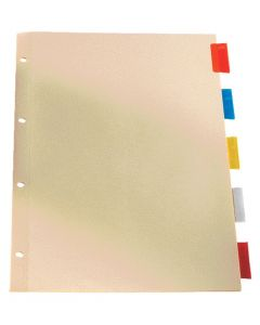 Oxford® Legal Size Insertable Tab Dividers - 1-5, Letter-Size, Assorted, 5/ST