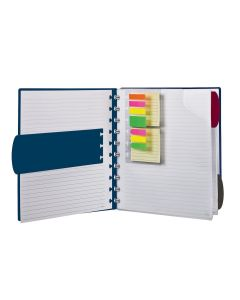 Ampad Versa® Crossover Notebook, Letter Size, Wide-Ruled, Navy, 60 SH/BK