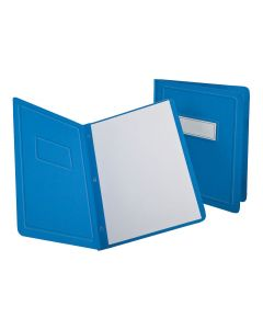 Oxford® Panel & Border Front Report Cover, Letter Size, Light Blue