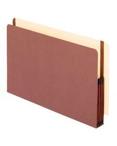 "Premium Reinforced End Tab File Pocket, 3-1/2"" Exp, Legal, Red"