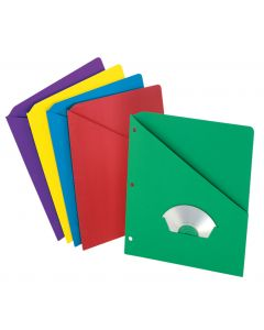Slash Pocket Project Folders, Assorted
