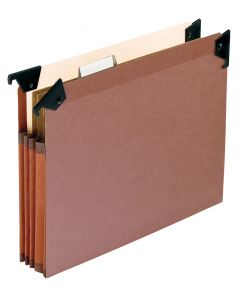 Premium Reinforced File Pocket with Swing Hooks, Letter size, Redrope